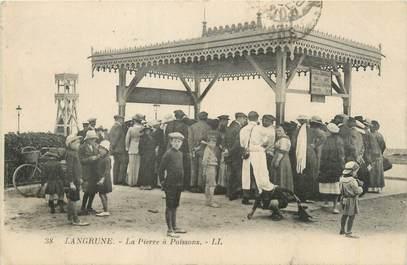 """CPA FRANCE 14 """"Langrune sur Mer, la pierre à Poissons"""""""