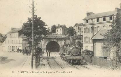 """CPA FRANCE 14 """"Lisieux, tunnel de la ligne de Trouville"""""""