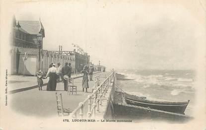 """CPA FRANCE 14 """"Luc sur Mer, la marée montante"""""""