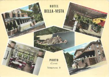 "CPSM FRANCE 20 ""Corse, Porto, hôtel Bella Vista"""