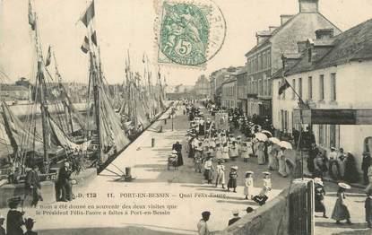 """CPA FRANCE 14 """"Port en Bessin, quai Félix Faure"""""""