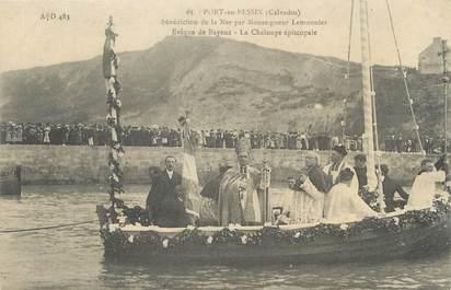 "CPA FRANCE 14 ""Port en Bessin, bénédiction de la mer"""