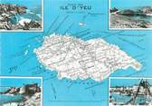 "85 Vendee CPSM FRANCE 85 ""Ile D'Yeu"" / CARTE GEOGRAPHIQUE"