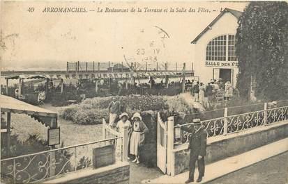 """CPA FRANCE 14 """"Arromanches, le restaurant de la terrasse"""""""