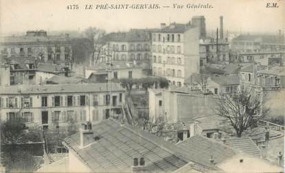 """CPA FRANCE 93 """"Le Pré Saint Gervais, vue générale"""""""