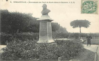 """CPA FRANCE 93 """"Romainville, monument de Paul de Kock"""""""