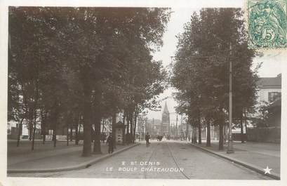 "CPA FRANCE 93 ""Saint Denis, le boulevard Chateaudun"""