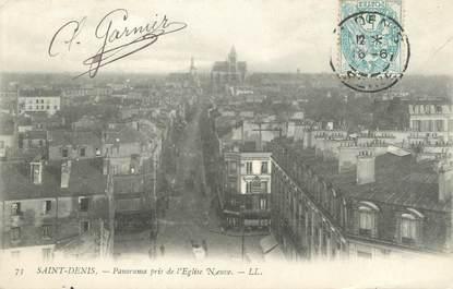 """CPA FRANCE 93 """"Saint Denis, panorama pris de l'église neuve """""""