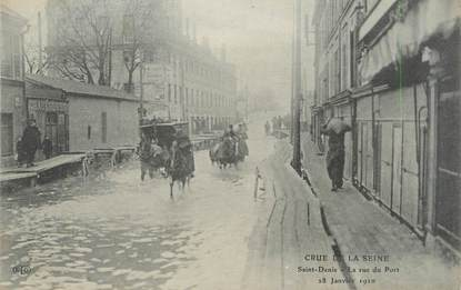 "CPA FRANCE 93 ""Saint Denis, la rue du port"" / INONDATIONS"
