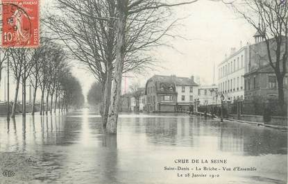"CPA FRANCE 93 ""Saint Denis, la Briche"" / INONDATIONS"