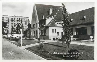 """CPSM FRANCE 93 """"Pantin, Parc de la Seigneurie, école de plein air"""""""