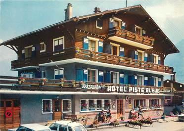 """CPSM FRANCE 74 """"Les Houches Mont Blanc, hôtel Piste Bleue"""""""