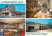 """80 Somme CPSM FRANCE 80 """"Harbonnières, hôtel restaurant tabac"""""""