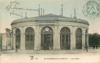 "CPA FRANCE 78 ""Saint Germain en Laye, la Gare"""