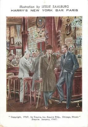 """CPSM FRANCE 75002 """"Paris, Harry's New York Bar Paris"""""""