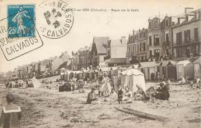 """CPA FRANCE 14 """"Saint Aubin sur Mer, repos sur le sable"""""""