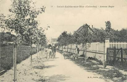 "CPA FRANCE 14 ""Saint Aubin sur Mer, avenue Roger"""