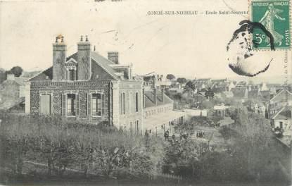 """CPA FRANCE 14 """"Condé sur Noireau, école Saint Sauveur"""""""