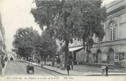 """53 Mayenne CPA FRANCE 53 """"Laval, le théâtre et la rue de la Paix"""""""