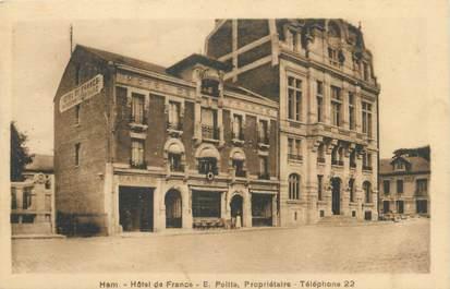 "CPA FRANCE 80 ""Ham, hôtel de France"""