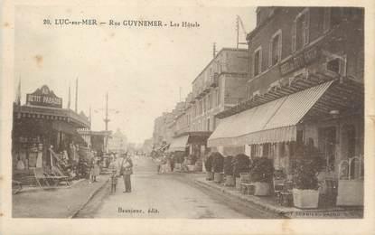 "CPA FRANCE 14 ""Luc sur Mer, rue Guynemer, les hôtels"""