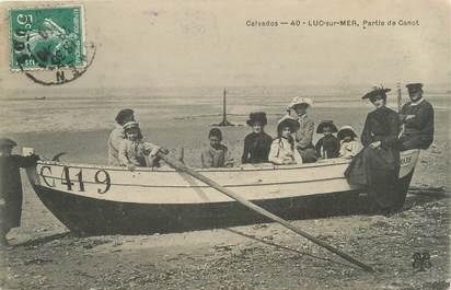 """CPA FRANCE 14 """"Luc sur Mer, partie de Canot"""""""