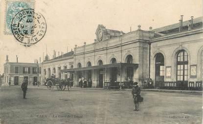 """CPA FRANCE 14 """"Caen, la gare de l'ouest"""""""