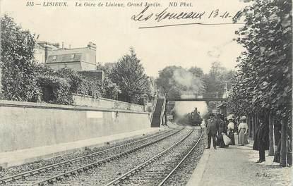 """CPA FRANCE 14 """"Lisieux, la gare de Lisieux"""""""
