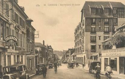 """CPA FRANCE 14 """"Lisieux, boulevard Saint Anne"""""""