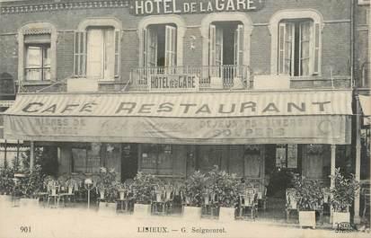 """CPA FRANCE 14 """"Lisieux, hôtel de la gare"""""""