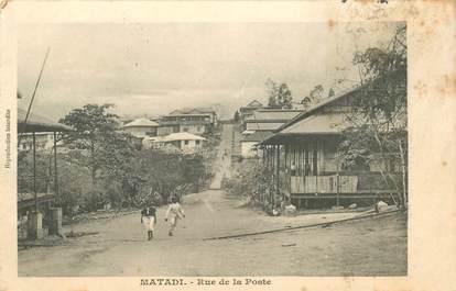 """CPA CONGO BELGE """"Matadi, rue de la poste"""""""