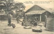 "Afrique CPA CONGO BELGE ""Emballage de poisson sec"""