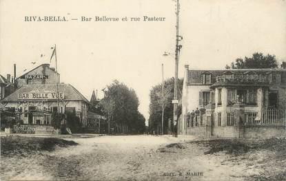 """CPA FRANCE 14 """"Ouistreham Riva Bella, bar Bellevue et rue Pasteur"""""""