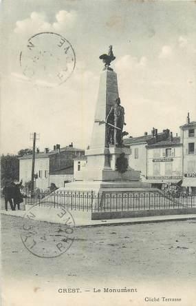 "CPA FRANCE 26 ""Crest, le monument"""
