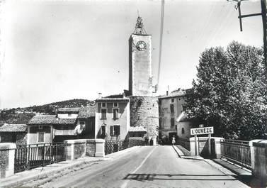 """CPSM FRANCE 26 """"Mollans sur Ouveze, le pont et l'horloge"""""""