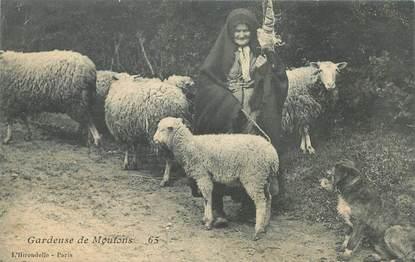 "CPA AGRICULTURE ""Gardeuse de moutons"""