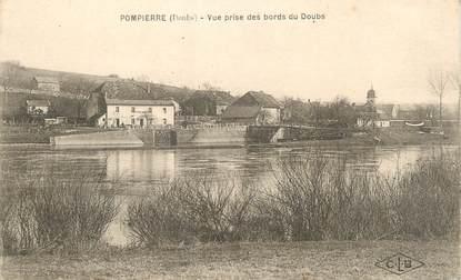 """CPA FRANCE 25 """"Pompierre, vue prise des bords du Doubs"""""""