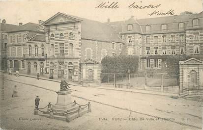 """/ CPA FRANCE 14 """"Vire, hôtel de ville et théatre"""""""