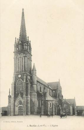 """CPA FRANCE 35 """"Bedée, l'église"""""""