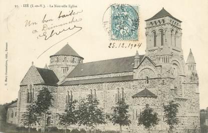 """CPA FRANCE 35 """"Izé, la nouvelle église"""""""