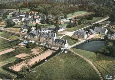 """CPSM FRANCE 35 """"La Chapelle Bouexic, le château, l'église"""""""