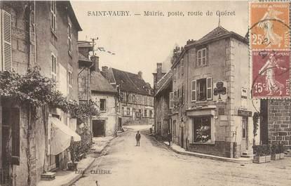 """CPA FRANCE 23 """"Saint Vaury, mairie, poste, route de Gueret"""""""
