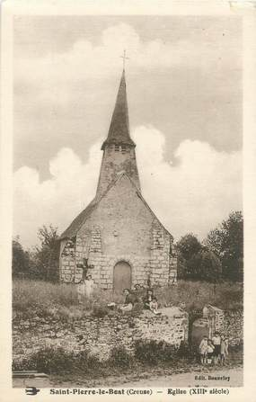 "CPA FRANCE 23 ""Saint Pierre le Bost, église"" / USAGE TARDIF"