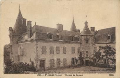 """CPA FRANCE 23 """"Pionnat, château de Bogenet"""""""
