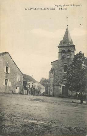 """CPA FRANCE 23 """"Lavilletelle, l'église"""""""