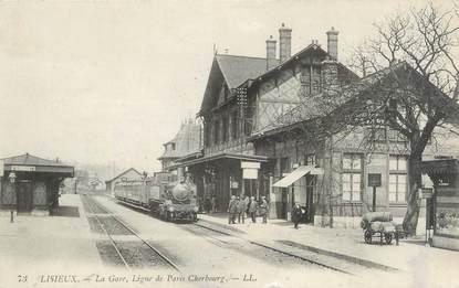 "CPA FRANCE 14 ""Lisieux, la gare """