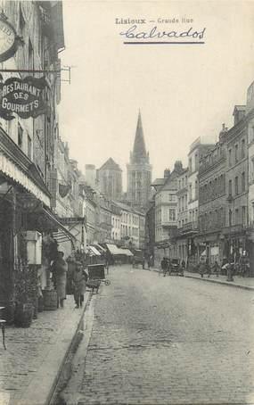 """CPA FRANCE 14 """"Lisieux, grande rue"""""""