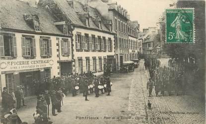 """CPA FRANCE 22 """"Pontrieux, place de la liberté"""""""