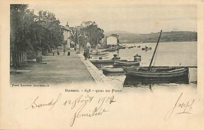 "CPA FRANCE 83 ""Bandol, Quai du Port"""