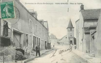 """CPA FRANCE 21 """"Vosne Romanée, place de l'église"""""""